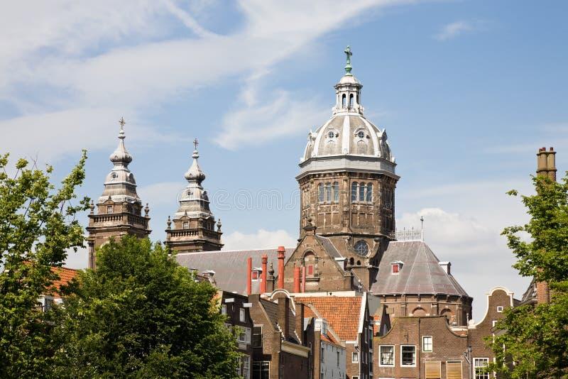 amsterdam kyrklig nicholas saint royaltyfria bilder