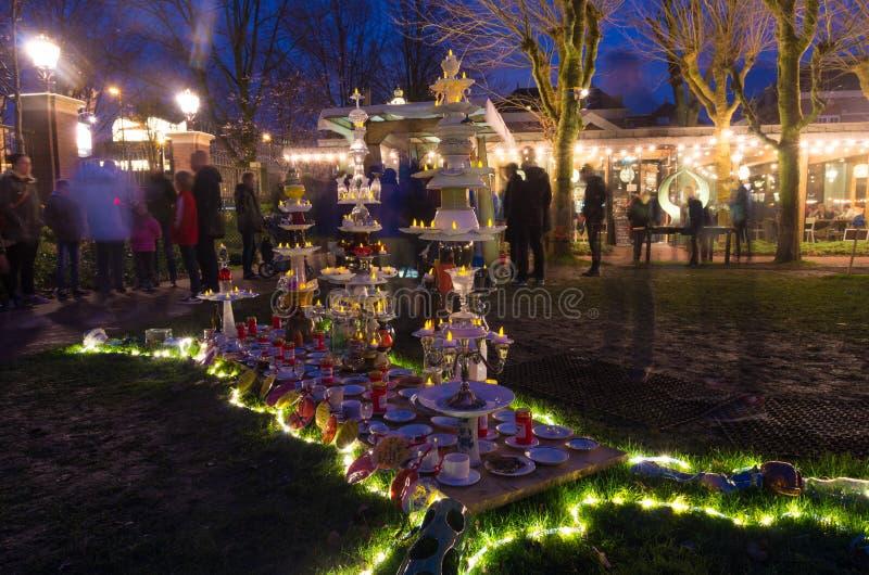 Amsterdam Lekki festiwal zdjęcie royalty free