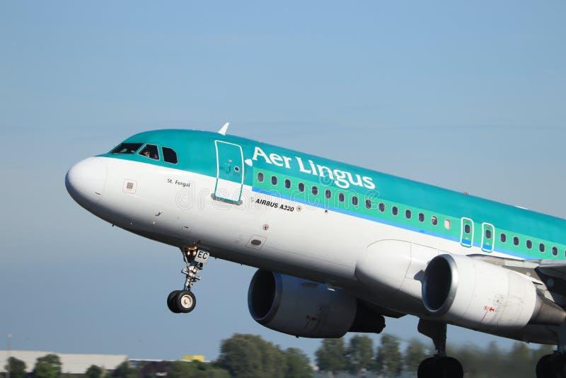 Amsterdam les Pays-Bas - 24 mai 2019 : EI-DEC Aer Lingus Airbus A320-200 images libres de droits