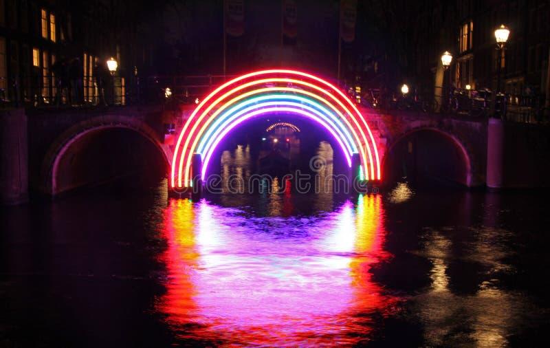 Amsterdam licht festival 02 stock photo
