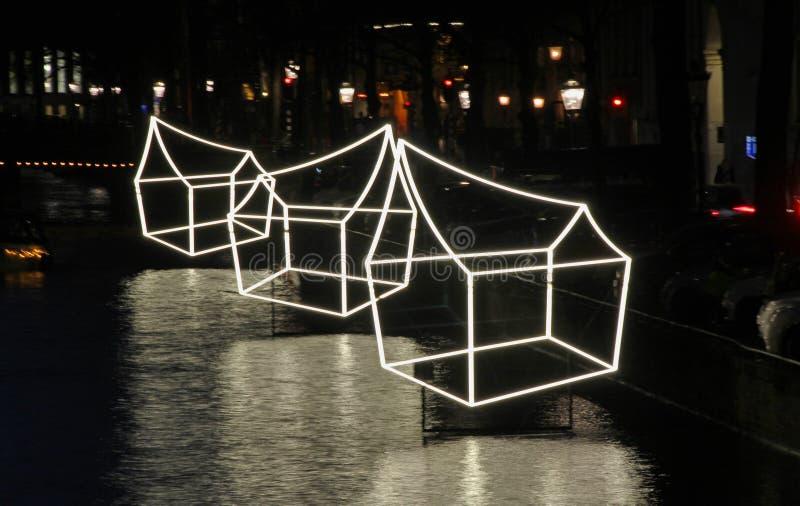 Amsterdam licht festival 01 royalty free stock image