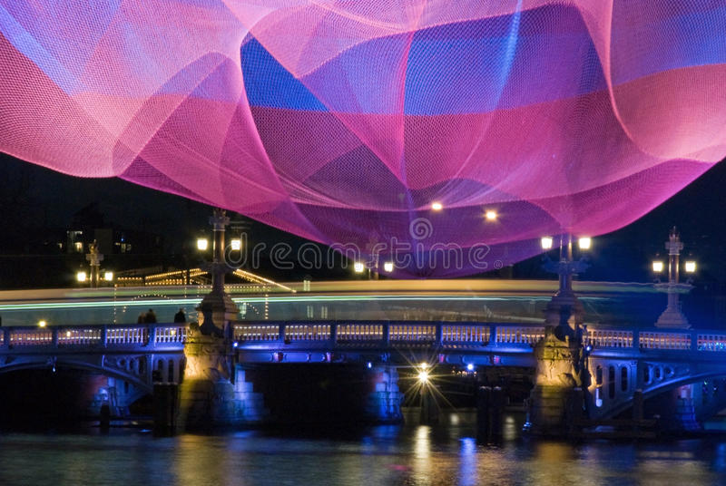 Amsterdam Light Festival stock photo