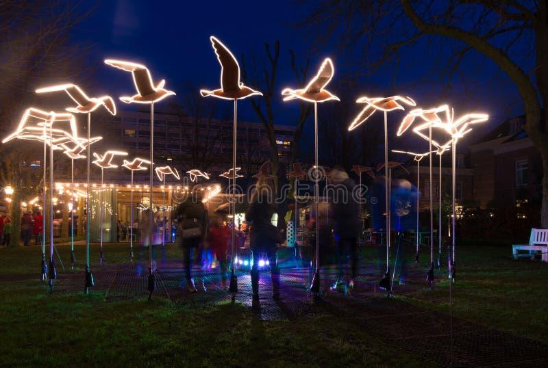 Amsterdam light festival stock images