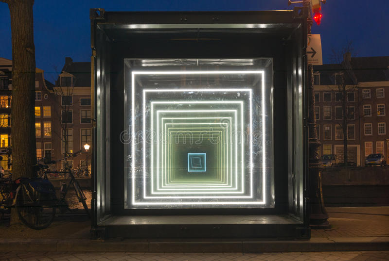Amsterdam light festival royalty free stock photography
