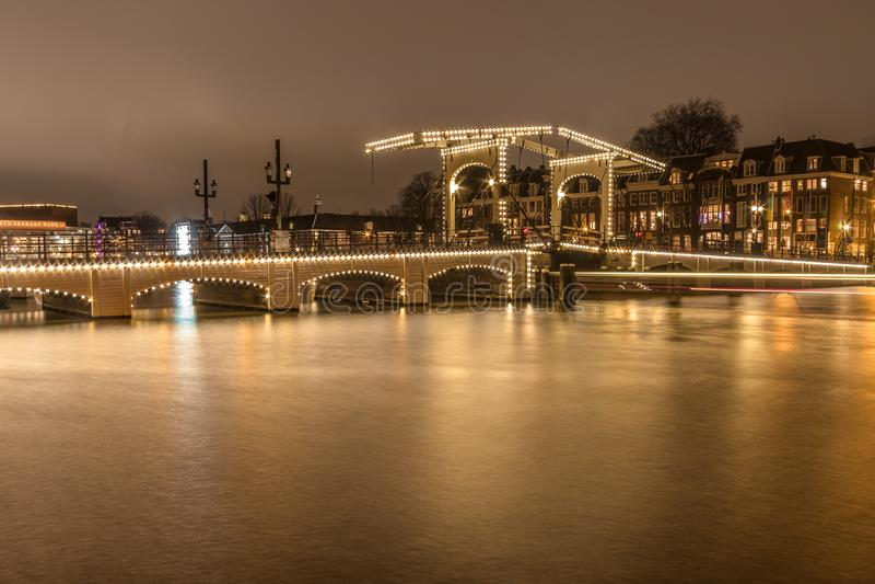 Amsterdam light festival royalty free stock photo