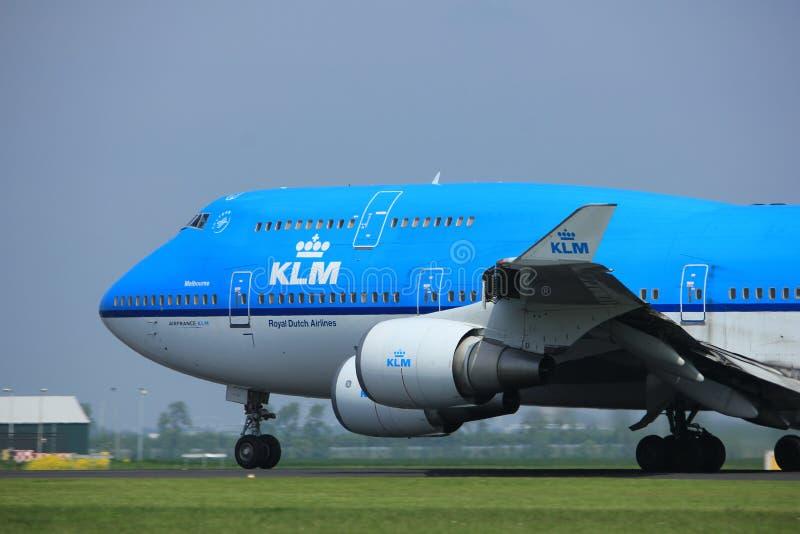 Amsterdam los Países Bajos - 6 de mayo de 2017: PH-BFE Boeing 747 imágenes de archivo libres de regalías