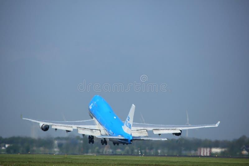Amsterdam los Países Bajos - 6 de mayo de 2017: PH-BFE Boeing 747 fotografía de archivo