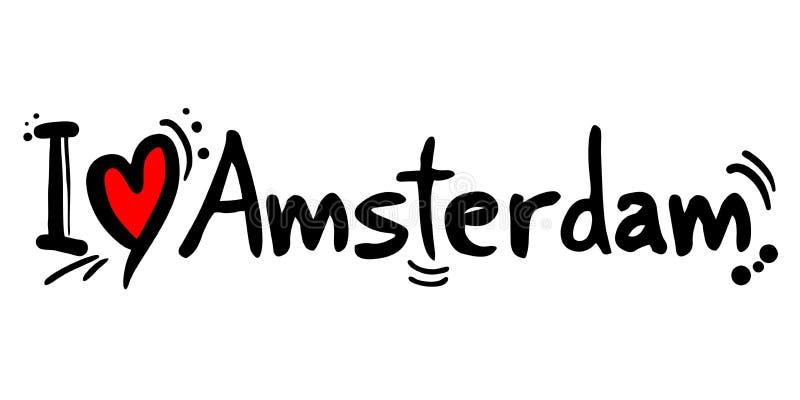 Amsterdam love message. Creative design of Amsterdam love message royalty free illustration