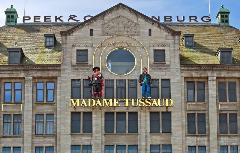 Amsterdam - museo de la cera de señora Tussauds foto de archivo