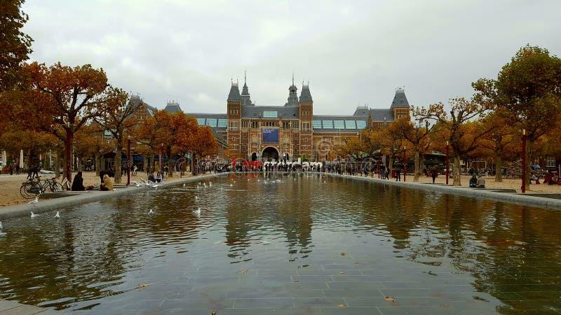 Amsterdam museum holland royaltyfri foto