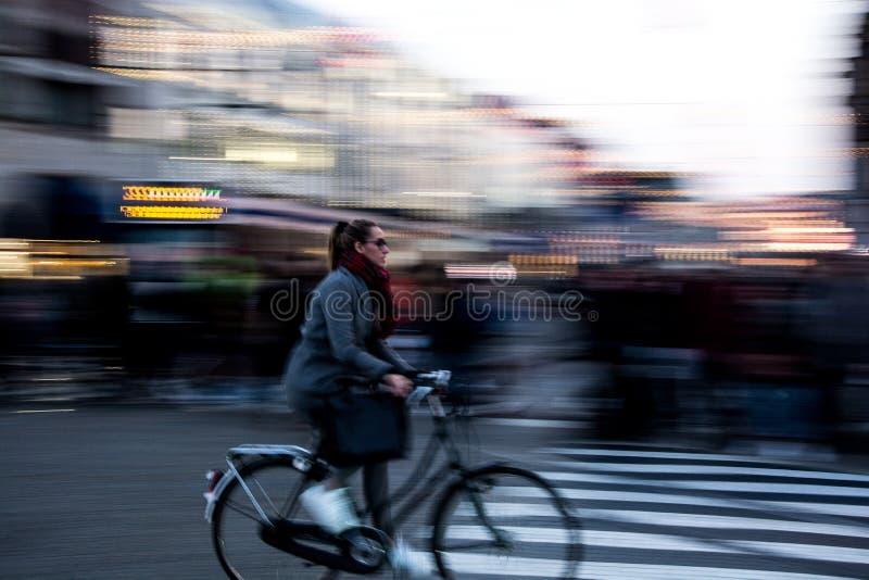amsterdam na rowerze zdjęcia stock