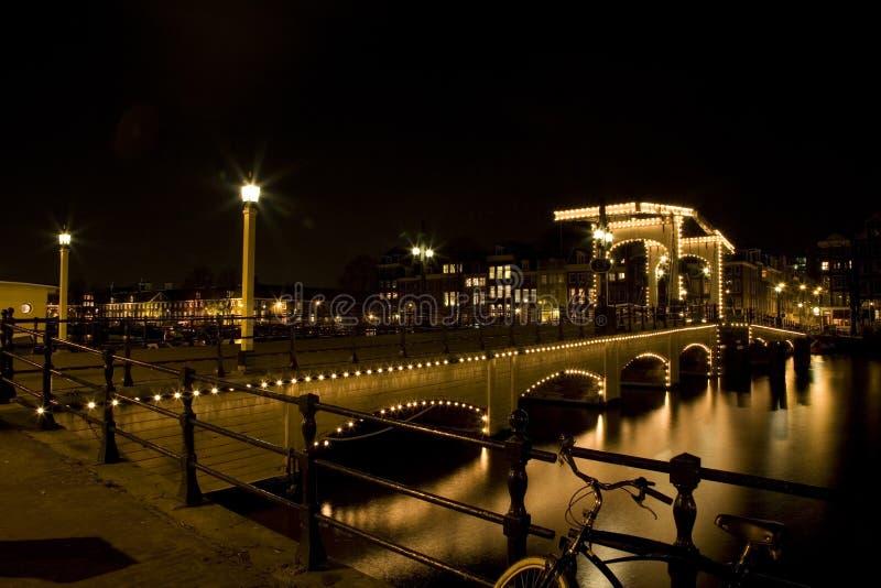 Amsterdam-Nacht 1 lizenzfreie stockfotos