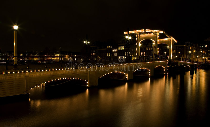 Amsterdam-Nacht 2 lizenzfreie stockbilder