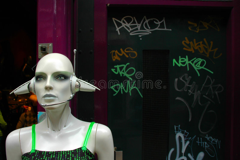 Amsterdam-Nachtleben - Punk stockfotografie
