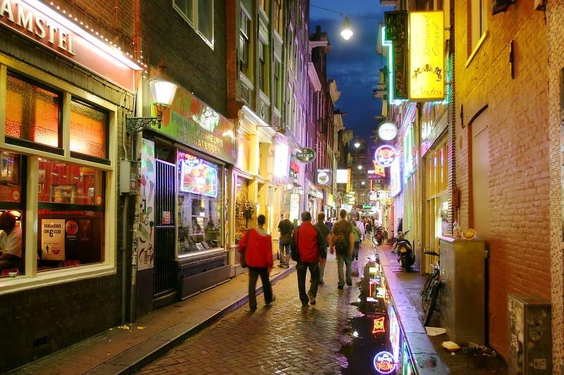 Amsterdam nachts. lizenzfreie stockfotos