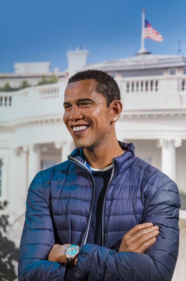 AMSTERDAM NEDERLÄNDERNA - APRIL 25, 2017: Barack Obama vaxstaty arkivbild