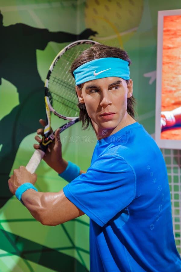AMSTERDAM NEDERLÄNDERNA - APRIL 25, 2017: Rafael Nadal vaxstaty royaltyfria foton