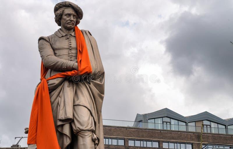amsterdam Nederländerna Härlig typisk stadsarkitektur royaltyfria bilder