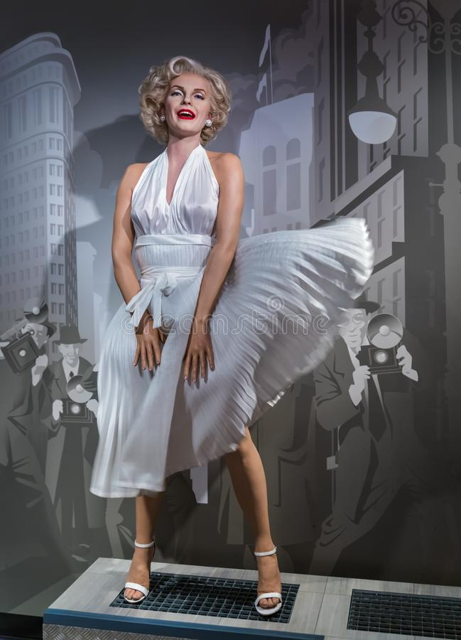 AMSTERDAM, NEDERLAND - APRIL 25, 2017: Marilyn Monroe-was stat stock foto's