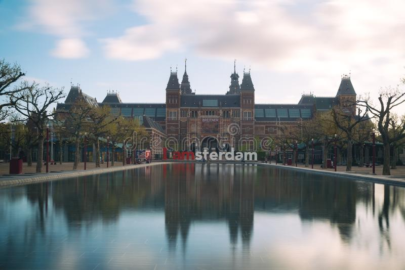 Amsterdam, Netherland - 3 de mayo de 2016: Musa de Rijksmuseum Amsterdam imagen de archivo libre de regalías