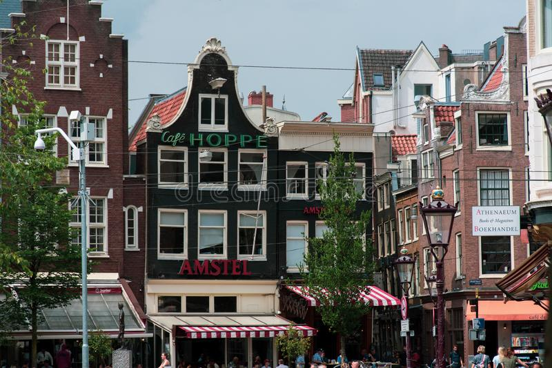 Amsterdam/Niederlande/ July 18, 2019: Cafe Hoppe traditional brewery and coffee of Amsterdam royalty free stock photo