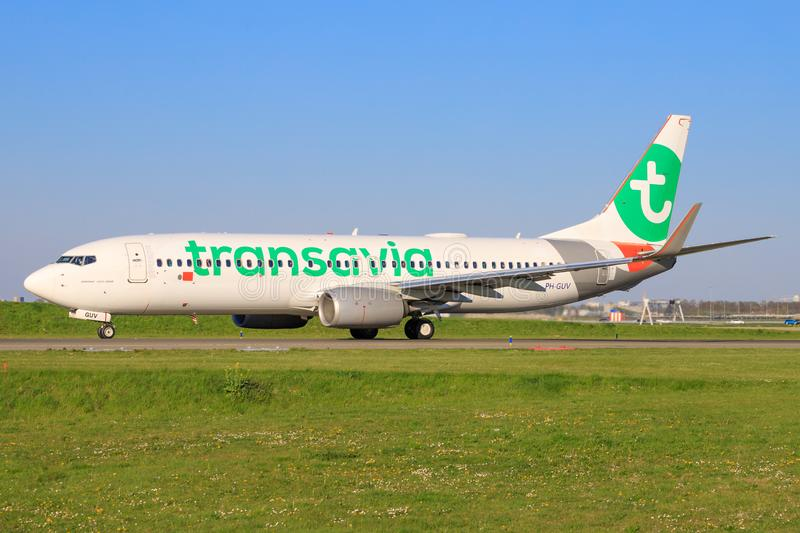 Boeing 737 from Transavia royalty free stock photography