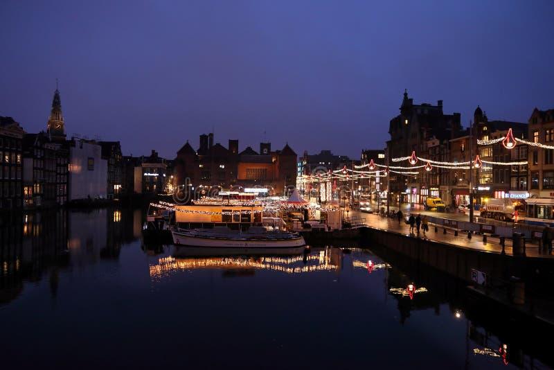 Amsterdam night stock image