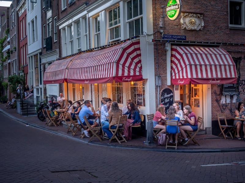 Amsterdam restaurant, Jordaan royalty free stock photo