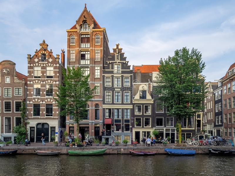 Dutch houses in Amsterdam royalty free stock photography