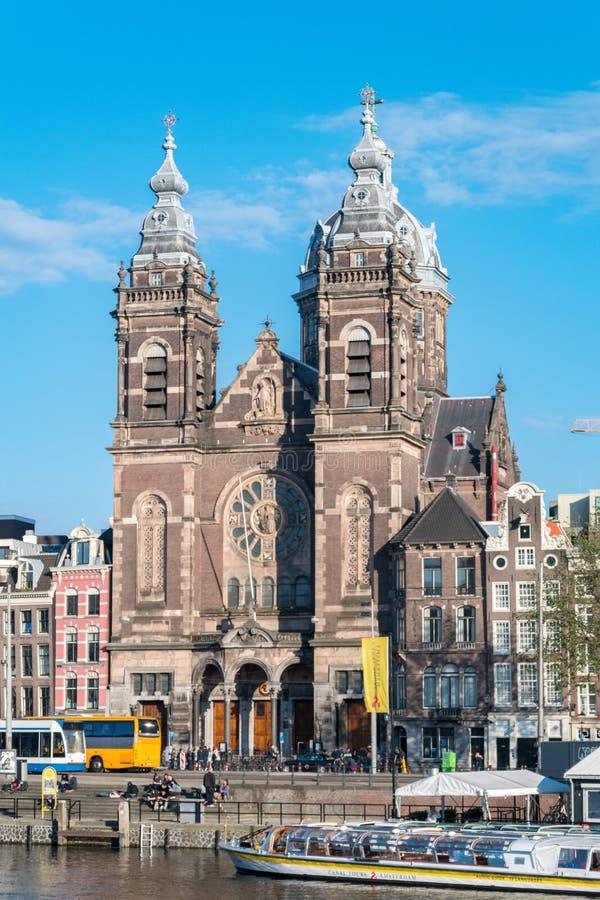 Basilica of Saint Nicholas, the primary Catholic church in Amsterdam royalty free stock photos