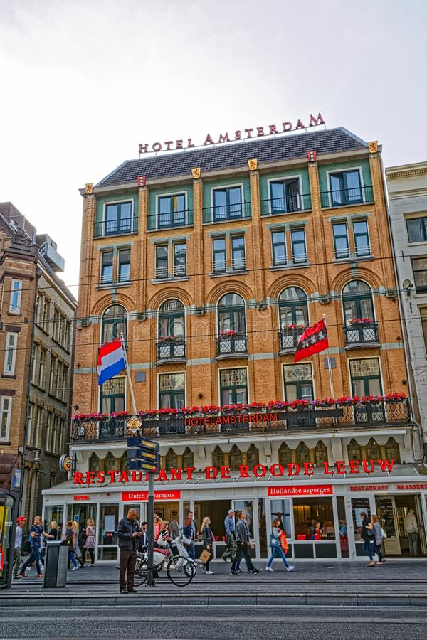 Amsterdam Old Hotel By The Dam Square Editorial Image Image Of Amsterdam City 168840420