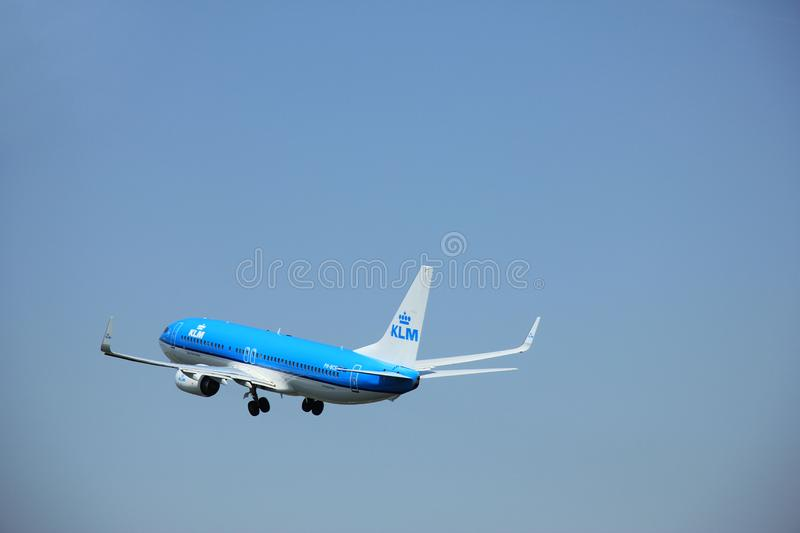 Amsterdam, The Netherlands - June 12 2015: PH-BCE KLM Boeing 737-800. Amsterdam, The Netherlands - June 12 2015: PH-BCE KLM Royal Dutch Airlines Boeing 737-800 stock photos