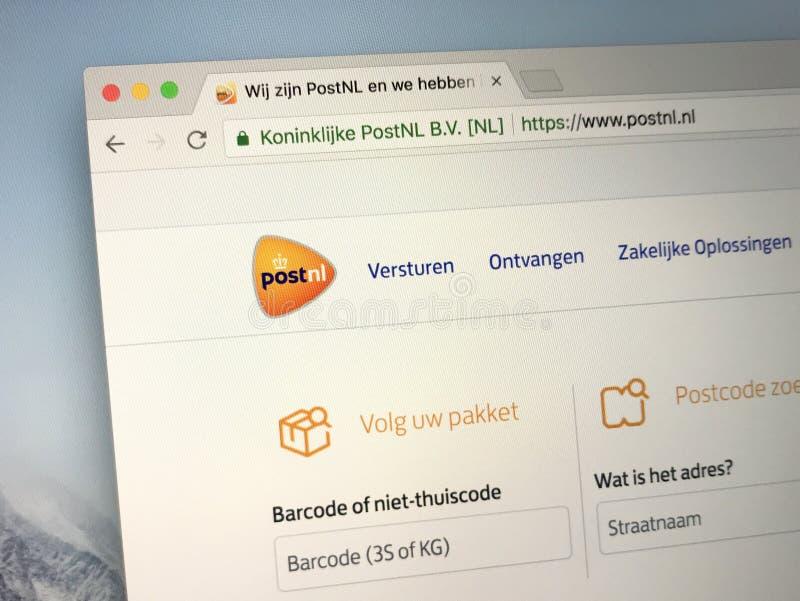 Homepage of post.nl - PostNL stock image