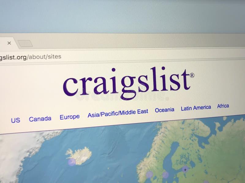 Website of Craigslist stock photography