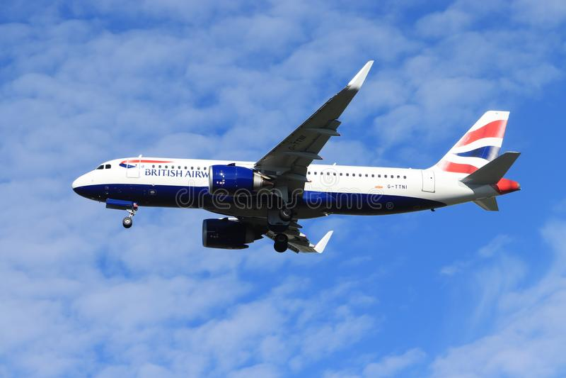 Amsterdam the Netherlands - May 24th, 2019: G-TTNI British Airways Airbus A320neo stock photo