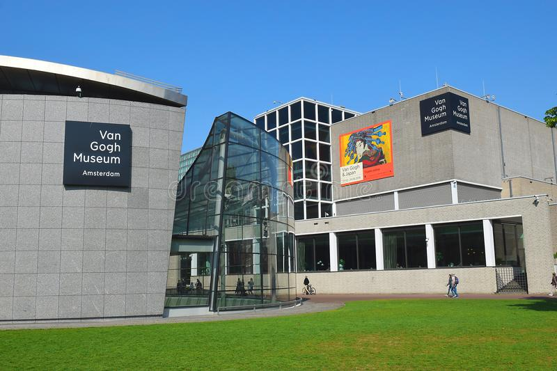 Van Gogh museum building complex in Amsterdam, Netherlands stock photo
