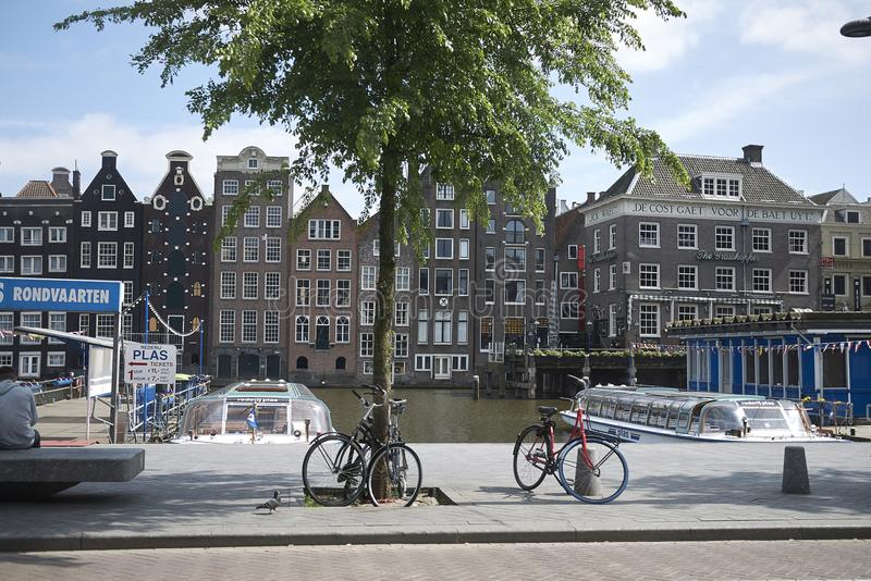 View of amsterdam canal royalty free stock photo