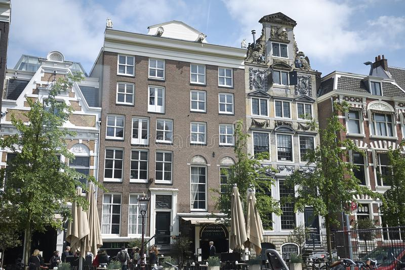 View of amsterdam houses royalty free stock images