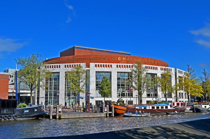 Dutch National Opera & Ballet aka Stopera in Amsterdam, Netherlands, royalty free stock photos