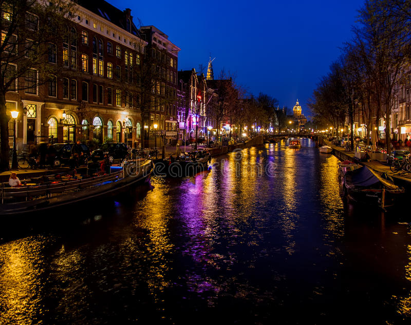 Amsterdam night stock images