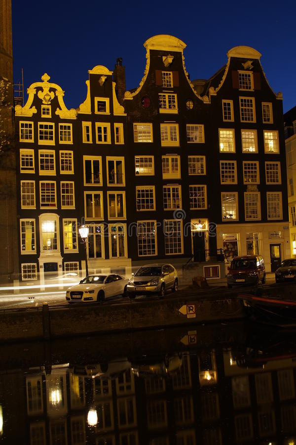 Amsterdam nightshoot stock photography