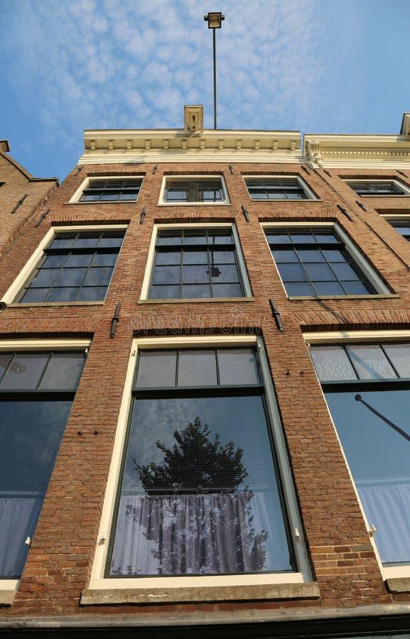 Amsterdam, NL, die Niederlande - 23. August 2017: Haus von Anne Frank das jüdische Mädchen, das in Amsterdam wohnte lizenzfreies stockbild