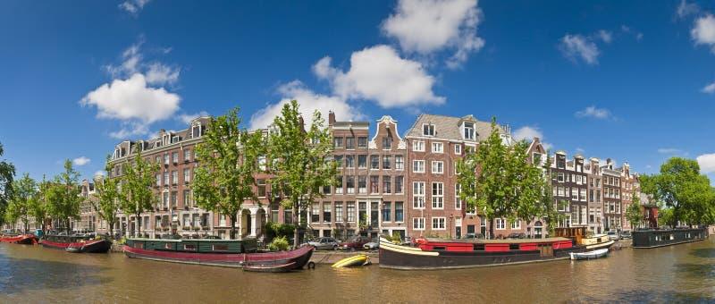 Amsterdam odbicia, Holandia obrazy royalty free