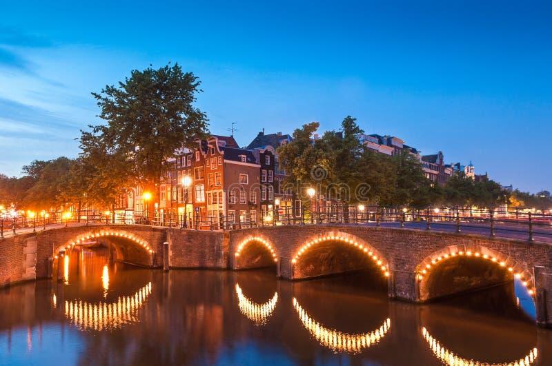 Amsterdam odbicia, Holandia zdjęcia stock