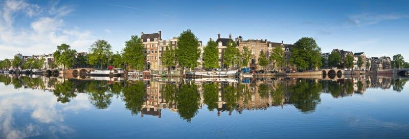 Amsterdam odbicia, Holandia fotografia stock