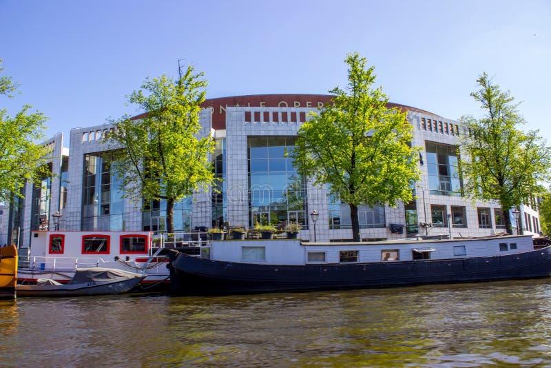 Amsterdam operahus arkivbild