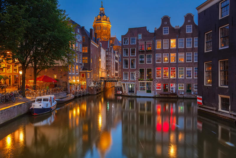 Amsterdam på natten