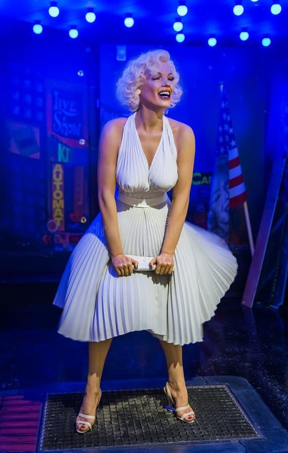AMSTERDAM, PAÍSES BAJOS - 25 DE ABRIL DE 2017: Stat de la cera de Marilyn Monroe imagen de archivo libre de regalías