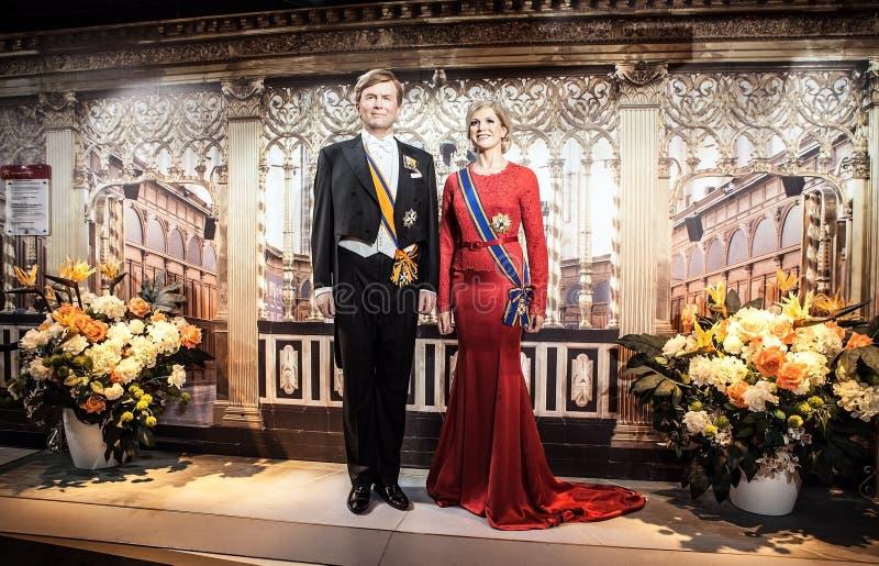 AMSTERDAM, PAÍSES BAJOS - 21 DE ENERO: Encere a las personas famosas del museo de señora Tussaud el 21 de enero de 2015 en Amster foto de archivo libre de regalías
