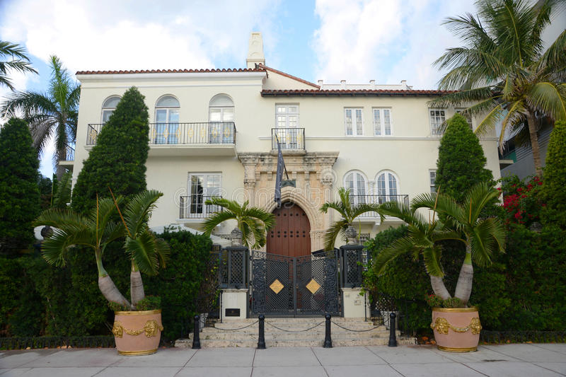Amsterdam pałac, Miami plaża fotografia stock
